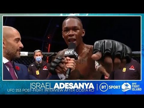 Israel Adesanya drops bombs on the mic after knockout win over Paulo Costa | UFC 253