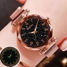 Ladies Wrist Watch Starry Sky Magnetic Luxury Waterproof