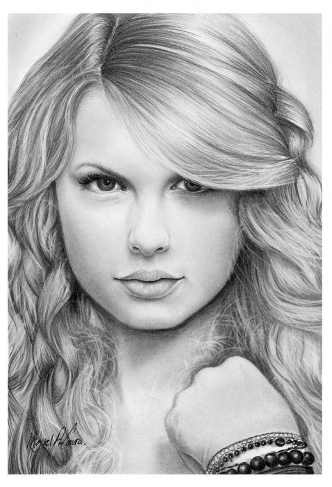 Portrait Of Taylor Swift By Mgl8807 On Stars Portraits 1