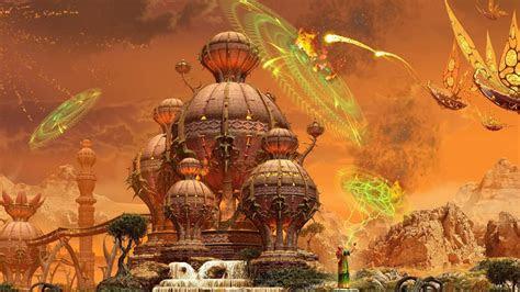 full hd wallpaper wizard town spell attack desktop