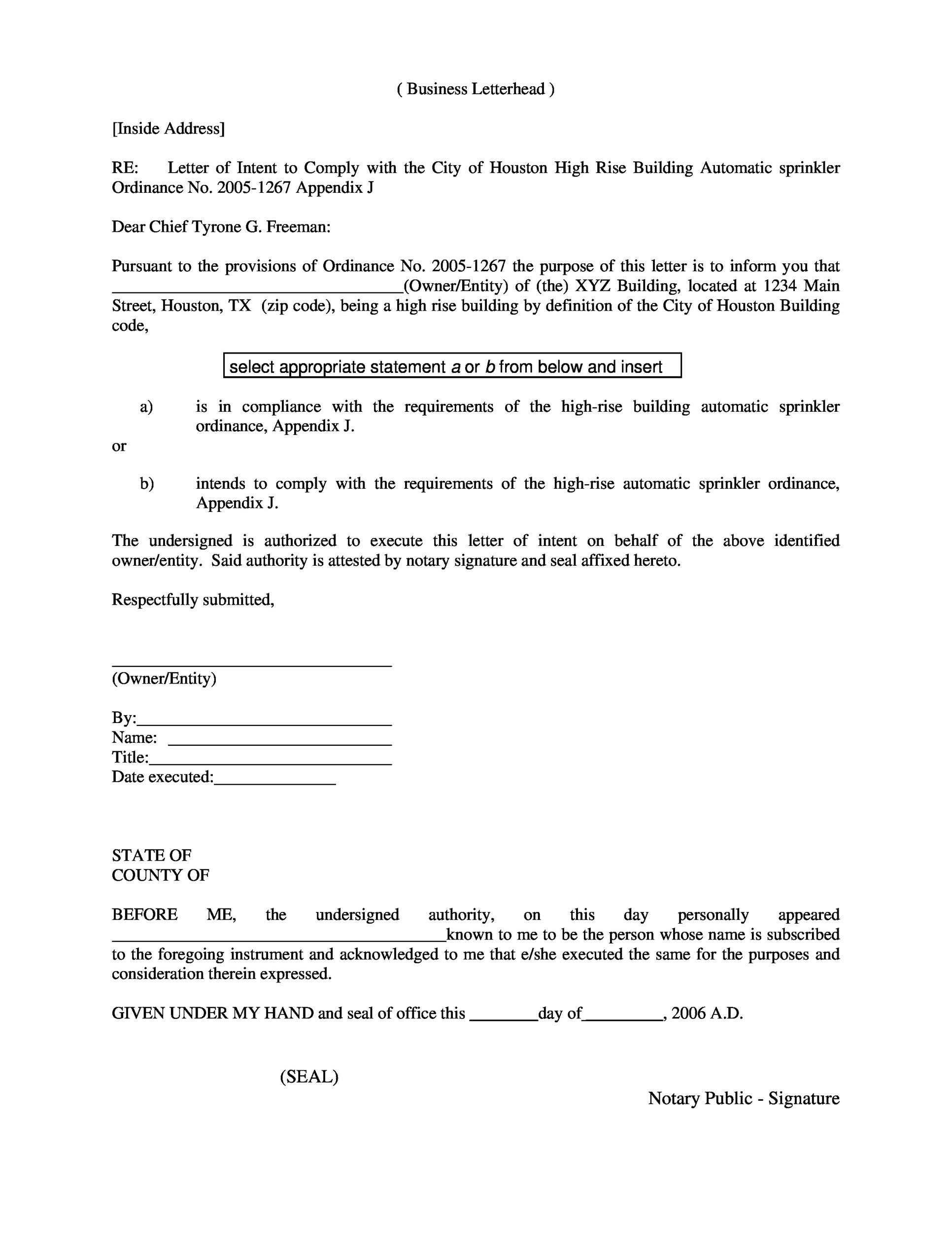 Letter Recommendation Notary Public