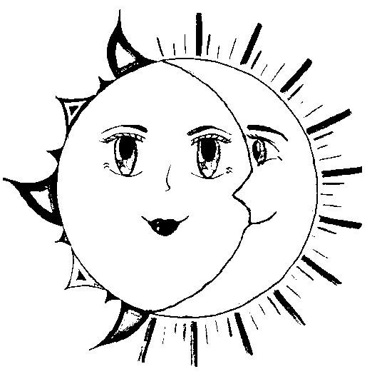 Dibujo Para Colorear Estrellas Sol Luna 5