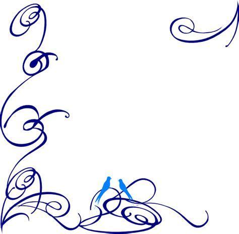 Decorative Swirl Blue Bird Clip Art at Clker.com   vector
