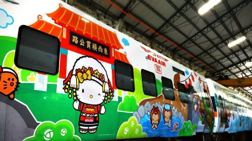 Así luce el nuevo tren de Hello Kitty en Taiwán [FOTOS]