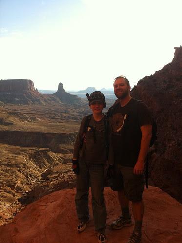 Caiden & Tyler on False Kiva trail