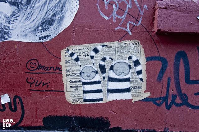 London street art paste-ups by artist Midge and My Dog Sighs