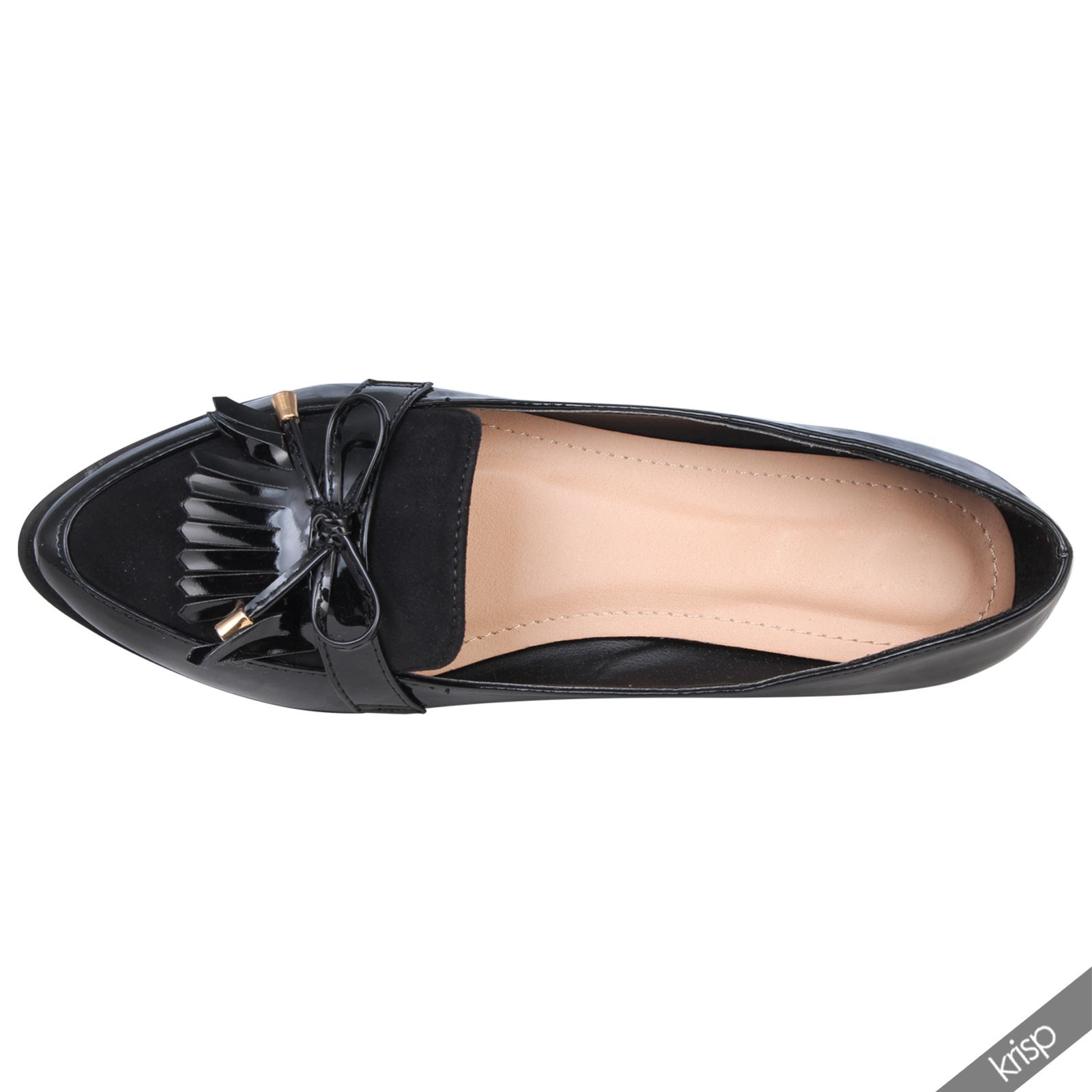 Womens Croc Reptile Patent Leather Penny Loafers Flats ...