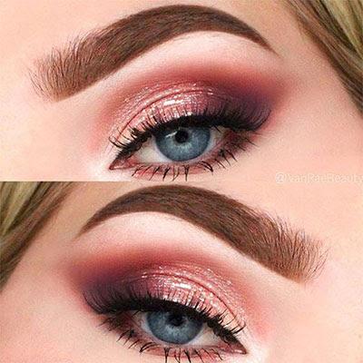 Peach palette makeup looks