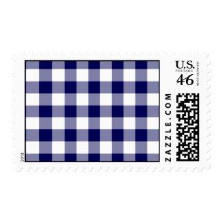 Navy and White Gingham Pattern – Medium stamp