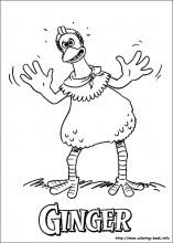 Chicken Run printable coloring pages