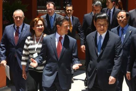 Vende Peña a presidente chino una imagen tersa de México. Foto: Germán Canseco