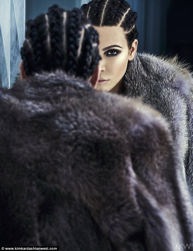 Mirror, mirror:Kim Kardashian has teamed up with iconic makeup artist Pat McGrath to star in a stunning new photoshoot, which she unveiled on her website