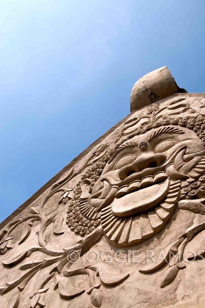 Indonesia - Jogjakarta Water Palace Barong and Blue Sky