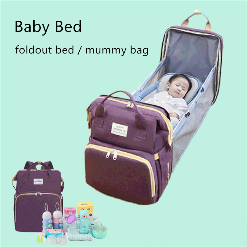 Baby Bed Mummy Bag Diaper Bag Changing Table Knapsack Folding Bed Outdoor Travel Portable Multi Functional Nappy Backpack Diaper Bags Aliexpress
