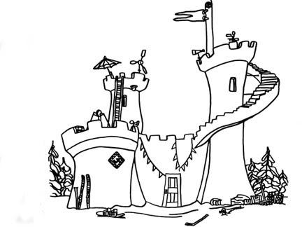 Le Château Fort Coloriages Goodies La Bataille Géante De
