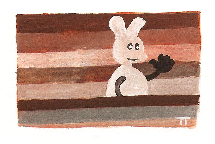 rabbit series - smaller paintings by Tim Thayer