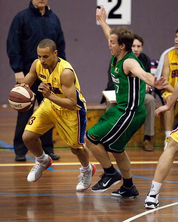 Nicholas Masunda, Tim Smith - QBL Quarter Final Basketball: Gold Coast Rollers v Brisbane Capitals; Carrara, Gold Coast, Queensland, Australia. Photos by Des Thureson:  http://disci.smugmug.com.