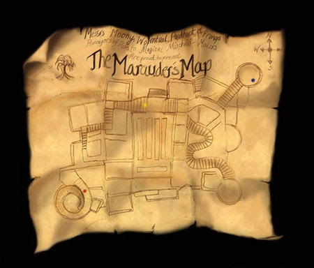 map of hogwarts grounds. This unique map not just charted out the Hogwarts