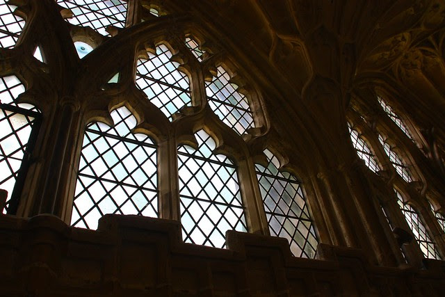 Windows in the Gloucester Cloister