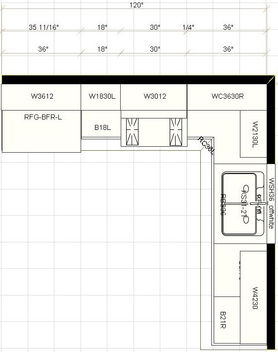 KITCHEN CABINET LAYOUT - Kitchen Cabinets