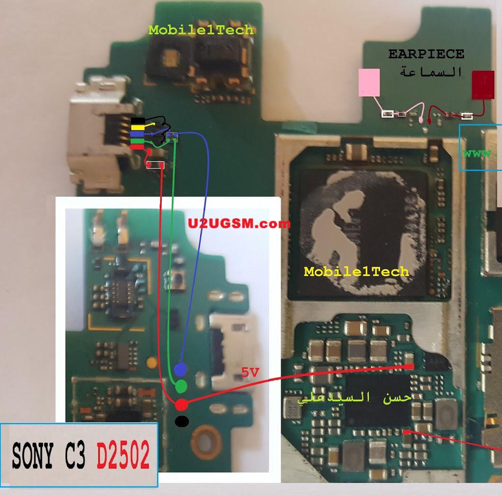 Sony Xperia C3 D2502 Earpiece Solution Ear Speaker Problem Jumper Ways