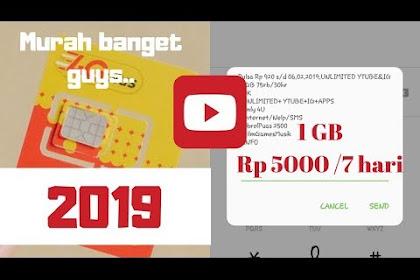 Kuota Internet Indosat Murah, 1 GB Hanya Rp 5 ribu Berlaku 7 Hari
