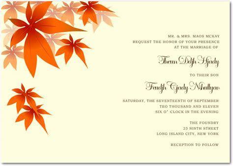 Wedding Invitation Wording Etiquette : Fall wedding