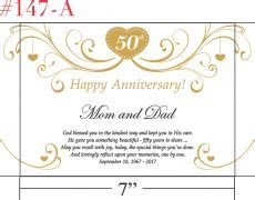 Happy 50th Anniversary Gift for Couple/Parents   Crystal