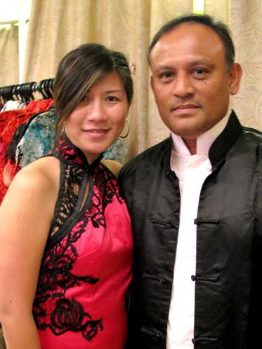 Couple in mandarin attire