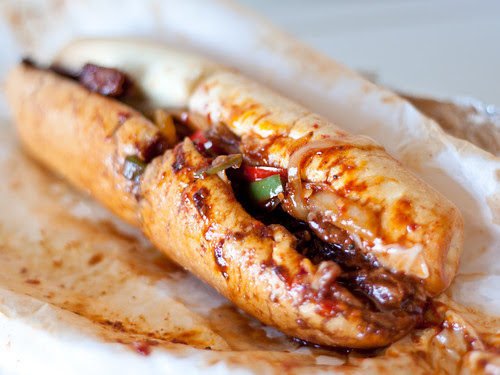 Spicy pork bulgoki steak sandwich