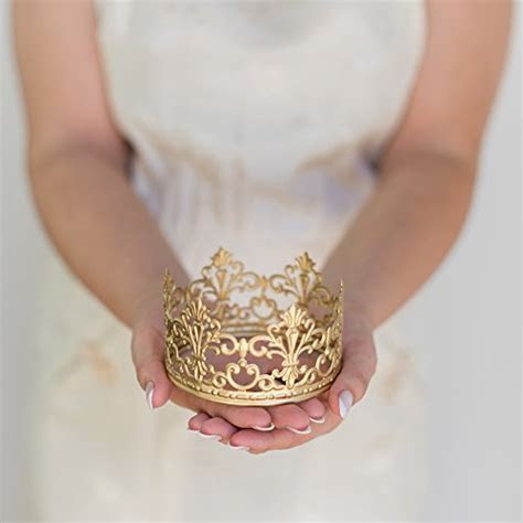 Gold Crown Cake Topper, Vintage Crown, Small Gold Wedding