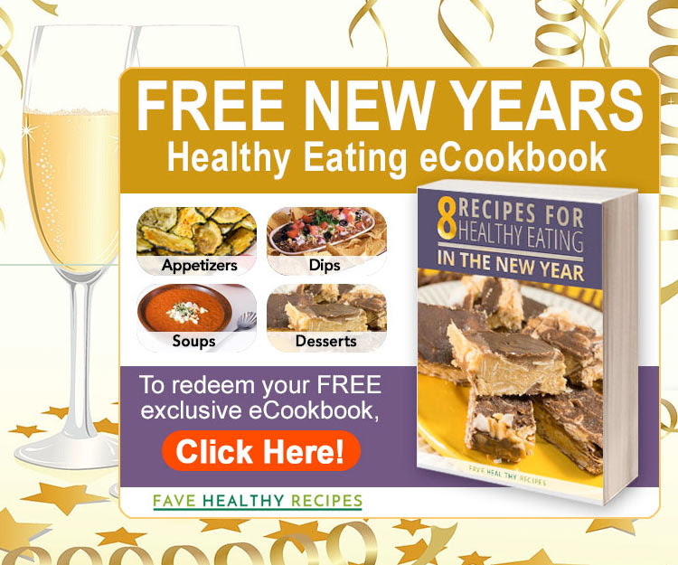 New Year, new you! How many times have you heard that? I'm glad that New Years takes place AFTER Thanksgiving and Christmas though. If I had to commit to a healthy lifestyle before all the filling turkey stuffings and tasty Christmas sweets, it'd be 100x more difficult! But, it can also be difficult going from eating such great foods to healthier ones. Our free ebook, 8 Recipes For Eating Healthy In The New Year, is the perfect tool for transition. Learn to create food that is good AND good for you!