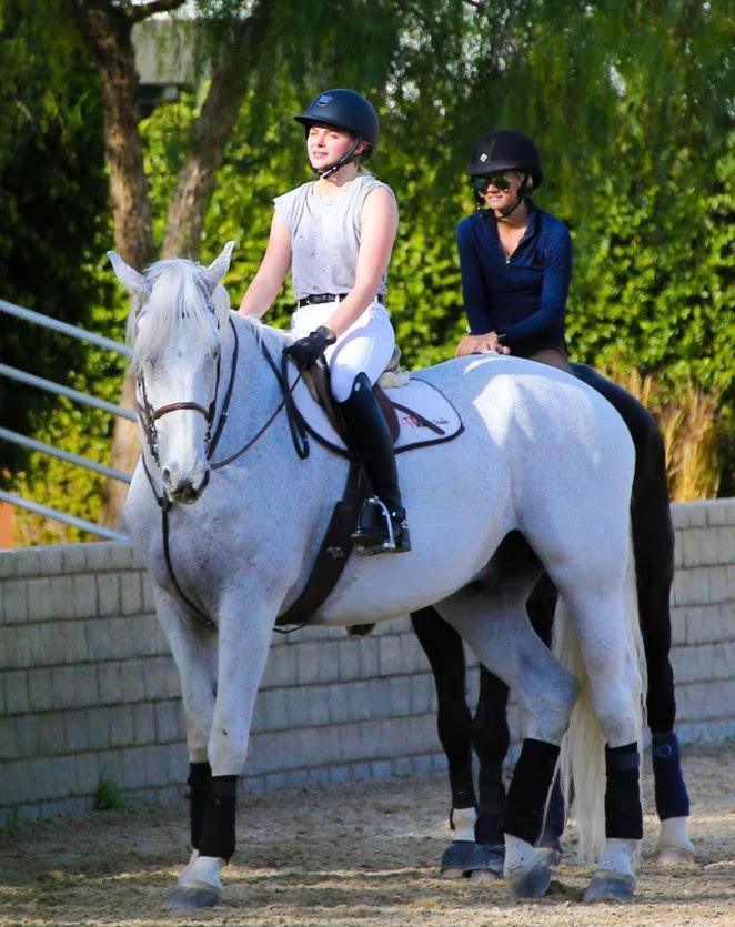 Chloe Moretz: Riding a Horse -15