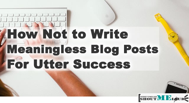 How to Write Blog Posts for Success