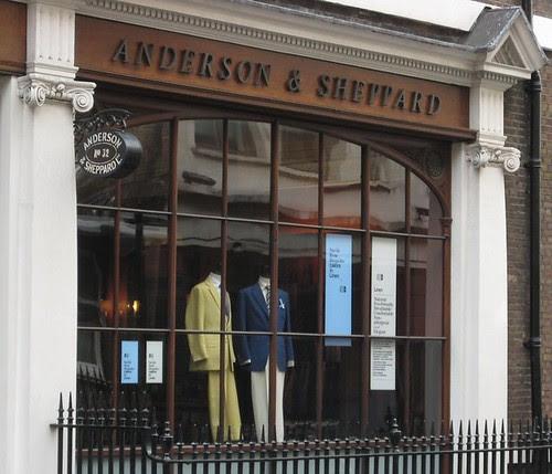 Anderson & Sheppard window