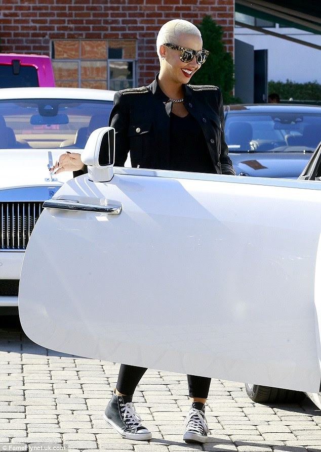 New ride:The podcaster and TV personality was seen picking up her brand new Rolls-Royce in Beverly Hills just days after her BFF Blac Chyna purchased one for $400,000.
