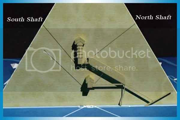 Great Pyramid of Giza has two shafts