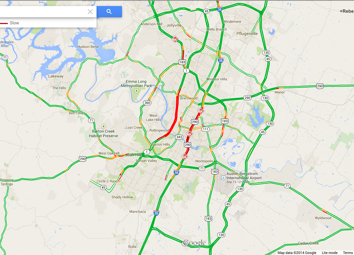 Traffic Map Austin Austin Traffic Map