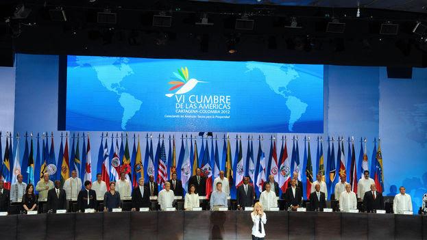 Cumbre de las Américas de 2012, en Cartagena de Indias. (Fuente: Wikipedia)