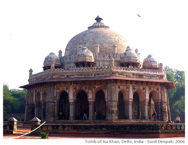 Tomb of Isa Khan, Delhi, India - images by Sunil Deepak, 2006