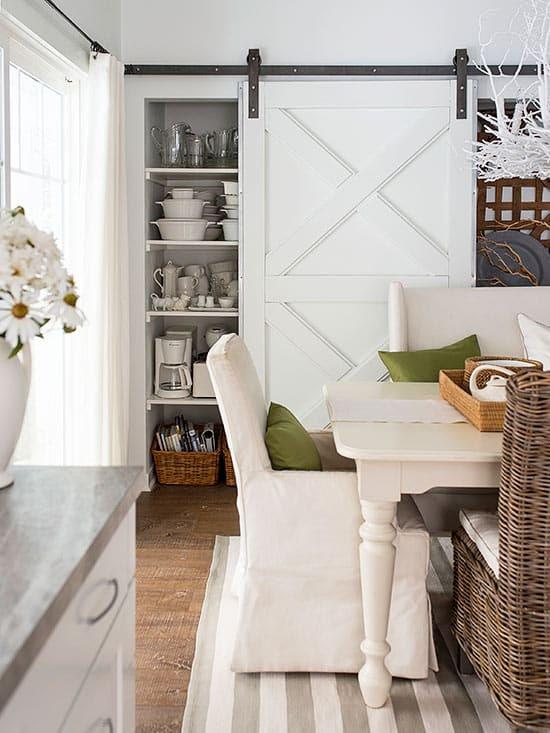 Dining Room with Barn Door