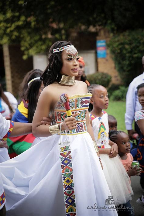 Zulu traditional wear inspired white wedding gown   Afro