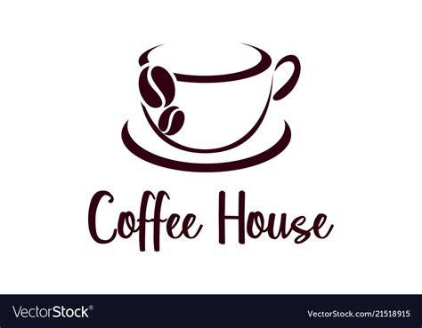 coffee cup logo design cafe icon symbol royalty  vector