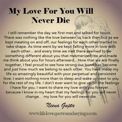Love Will Never Die Quotes