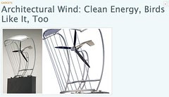 Architectural Wind: Clean Energy, Birds Like It, Too