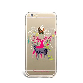 For Etui iPhone 7 / Etui iPhone 7 Plus / Etui iPhone 6 Ultratynn / Monster Etui Bakdeksel Etui Jul Myk TPU AppleiPhone 7 Plus / iPhone 7