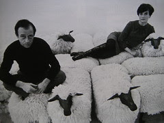 bronze-and-wool sheep 1965