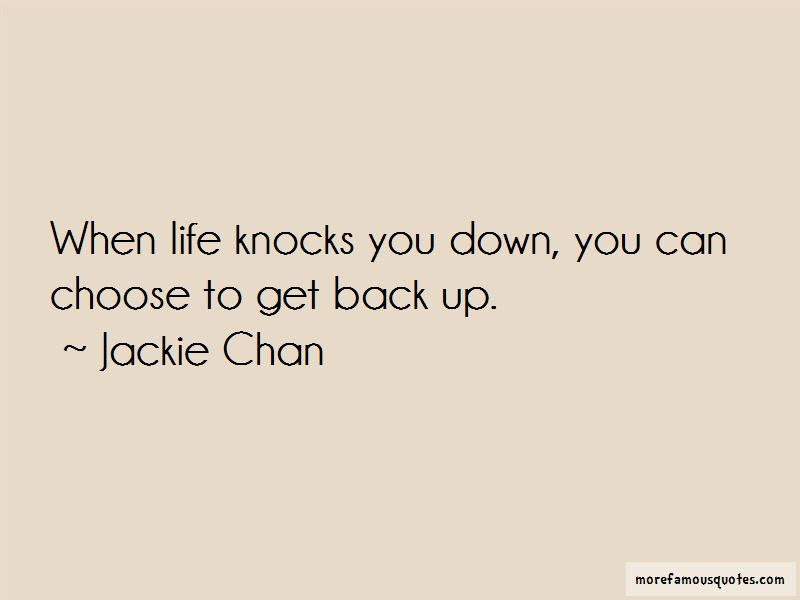 Quotes About When Life Knocks You Down Get Back Up Top 3 When Life
