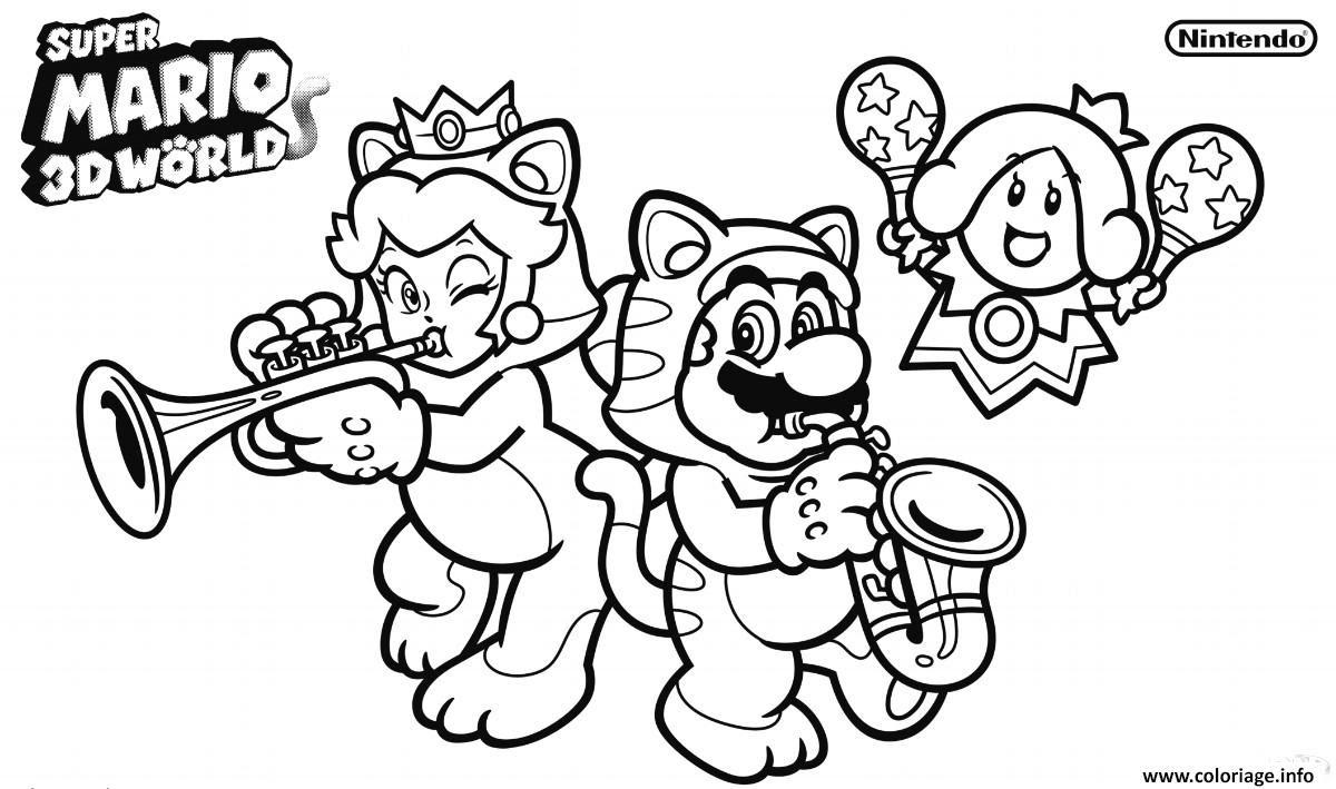 Coloriage Super Mario 3d World Jecoloriecom