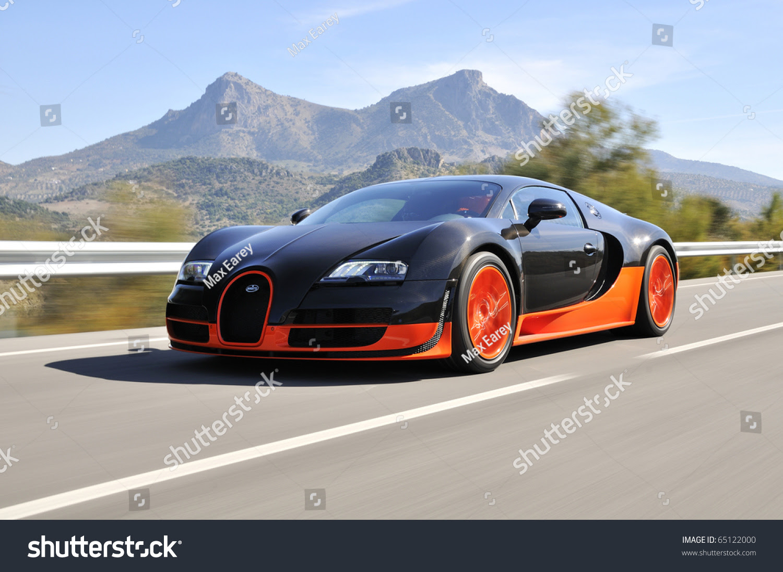 Jerez, Spain - September 19: The Bugatti Veyron Super ...